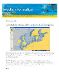 Admiralty Digital Catalogue And Product Ordering Service