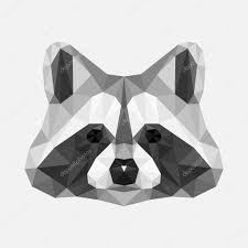 геометрический енот геометрический енот тату многоугольник