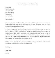 Self Introduction Letter Template With Sample Business Free