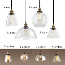 Industrial lighting fixtures for home Nautical Vanity Light Amberclear Glass Shade Pendant Lights Industrial Lighting Fixtures Kitchen Home Modern Led Light Vintage Pendant Ceiling Lamp Calmbizcom Amberclear Glass Shade Pendant Lights Industrial Lighting Fixtures