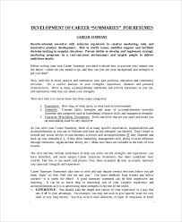 Summary Sample For Resume 8 Resume Summary Samples Examples Templates