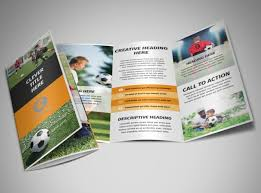 soccer team brochure template soccer team brochure template 3 fold sports team brochure template