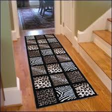rug on carpet in hallway. Delighful Hallway 3x8u0027 Animal Leopard Zebra Giraffe Patchwork Hallway Runner Rug Carpet On In N