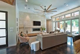 chic bladeless ceiling fan technique austin contemporary living room image ideas with area rug awning windows