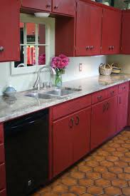 Red Floor Tiles Kitchen 17 Best Ideas About Red Kitchen Cabinets On Pinterest Red