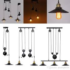 retro industrial pulley pendant lamp retractable lifting pully ceiling light green pendant lights grey pendant light from greatlight520 100 32 dhgate com