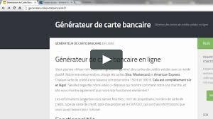 Générateur Bancaire De En Ligne Carte