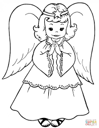Small Picture Coloring Pages Free Printable Angel Coloring Pages For Kids
