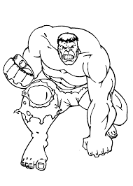 Small Picture Hulk Coloring Pages 2 Coloring Page