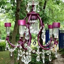creative idea solar light chandelier astonishing ideas old chandalier lights crystals refurbished for