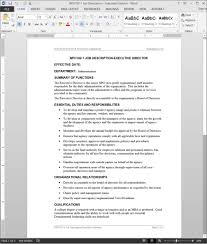Job Description Template Executive Director Job Description Template 16