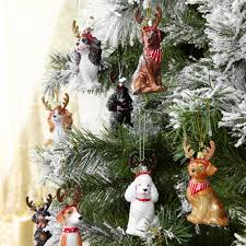 Kurt Adler Christmas Tree Candle Lights Labrador Retriever Tree Decoration Black