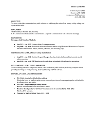 Fresh Idea Sample Resume For College Student 13 Academic Resume