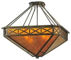 25 amber mica diamond mission octagon inverted pendant craftsman pendant lighting