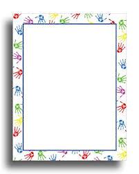 Baby Handprints Border Stationery Paper 80 Sheets