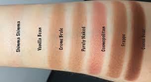 makeup geek eyeshadows in shimma shimma vanilla bean creme brule purely
