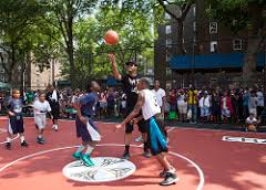 carmelo anthony house basketball court. Brilliant Carmelo Carmeloanthonynychaunveilbasketballcourtredhook  Inside Carmelo Anthony House Basketball Court R