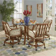 caster chairs ideas 94 dining room arm chairs with casters dining room chairs with plan