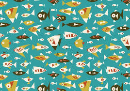Fish Pattern Awesome Retro Fish Seamless Pattern Free Photoshop Brushes At Brusheezy
