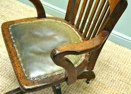 wood swivel desk chair with arms wooden office chair vintage wood and leather office chair vintage wood swivel