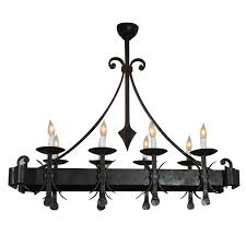 gothic style painted iron chandelier for