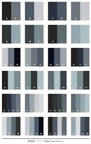 Color Scheme   Black & White color schemes, color combinations, color  palettes for .