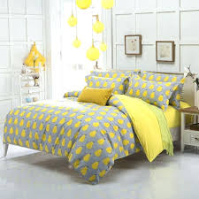 full size 3pieces fruit pear grey yellow prints duvet cover set queen king 4pcs beddinggrey and
