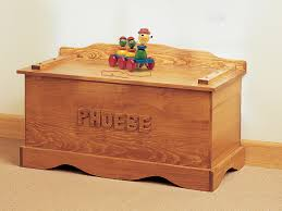 old fashioned wood toy chest includes a place for personalizing