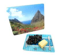 your image is printed on the back of a tempered glass cutting board this creates beautiful tempered glass cutting boards board