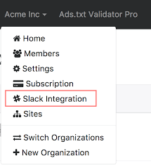 how to integrate with slack