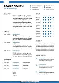 Modern It Manager Resume Template Word Construction Project Manager