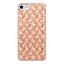"""Чехол для iPhone 8, объёмная печать """"Розовый <b>пейсли</b> (бута ..."""