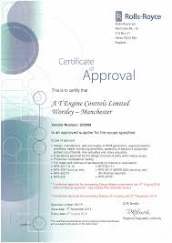 Quality And Approvals At Engine Controls