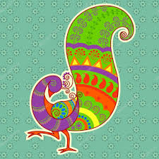 Indian Peacock Design Indian Peacock Art Colorful Peacock In Indian Art Style