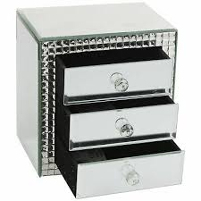 royal crest mirror jewellery box with 3