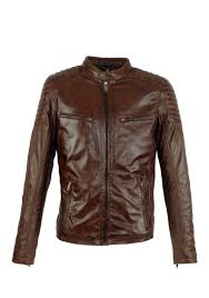 brown leather men 39 s jacket aim antrio 4051 brown