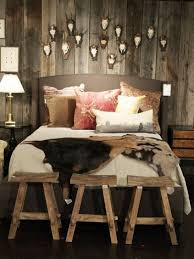 white rustic bedroom ideas. surprising rustic bedroom design pictures with white red bed also pillow blanket nightstand lamp antler chair storage beams and hardwood floor decoration ideas w