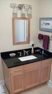 elegant black wooden bathroom cabinet. interior rectangle white wash basin in brown woodne bathroom vanity added by wooden mirror elegant black cabinet n