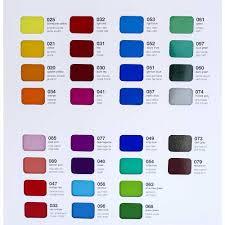 Oracal Color Guide For 8300 Series Transparent Vinyl