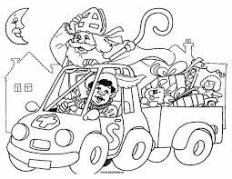 Kleurennu Sinterklaas Met De Auto Kleurplaten