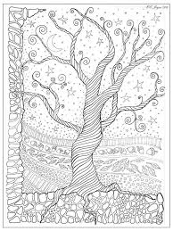 tree coloring page craft ideas cause i need more hobbies