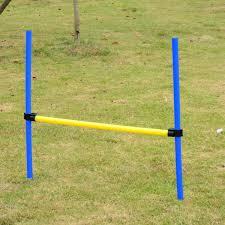 pawhut backyard peive dog agility kit obstacle course equipment walmart