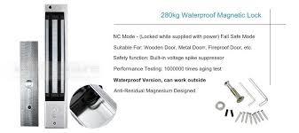 w1 diy rfid waterproof door access control system kit waterproof magnetic lock remote controller