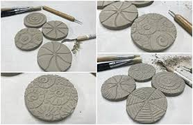 every few years i like to carve a bunch of new texture plates out of ceramic clay to create a new line of textured pendants for my marsha neal studio bead