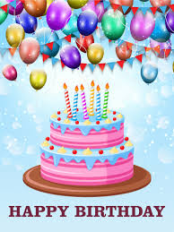 let s celebrate with delicious cake happy birthday card