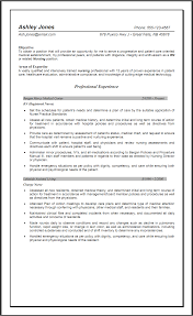 Registered Nurse Resume Objective Berathen Com