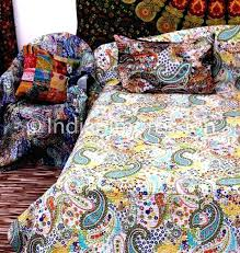 indian cotton quilts indian cotton quilts toronto white paisley kantha quilt cotton throw queen bohemian bedspread