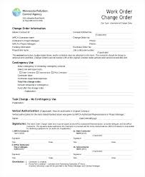 Project Change Order Template Subcontractor Change Order Template Free Contractor Updrill Co