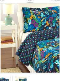 vera bradley bedding set reversible comforter set full queen with shams midnight blues new
