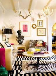 Zebra Living Room Warm Living Room Decorating Ideas With Wall Decor And Chandelier